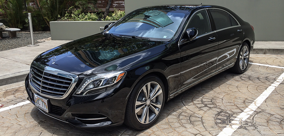 Mercedes s550 luxury service hawaii xs limousine for Mercedes benz limo